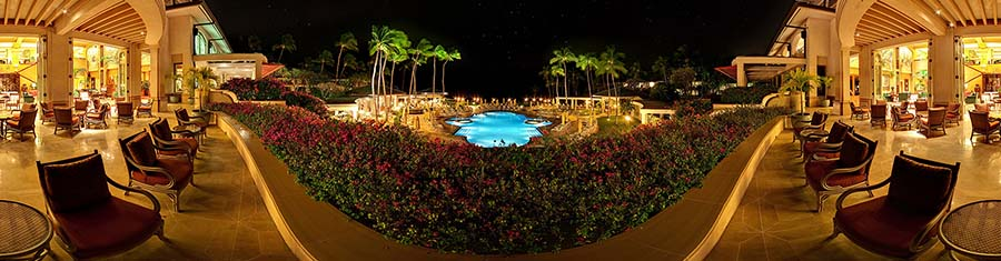 Manele Terrace at Night