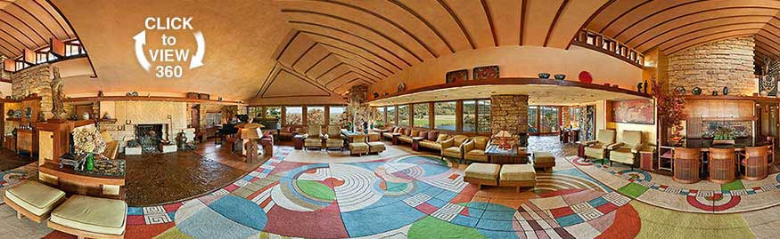 Formal Living Room at Frank Lloyd Wrights Taliesin